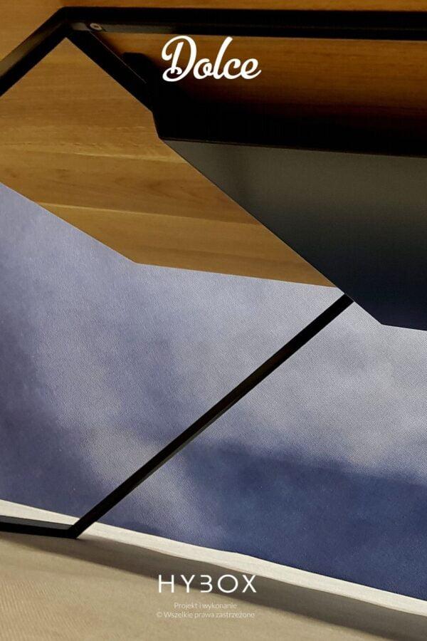 elegancka ława kawowa z półką z litym dębowym blatem